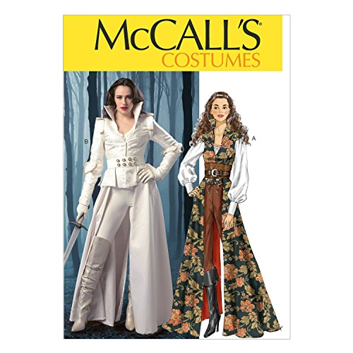 McCall's Patterns M6819 - Patrón para Coser Disfraces de Mujer (de XS a L), Color Blanco