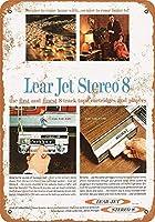 リアジェットステレオ8トラックテープ金属レトロな壁の装飾ティンサインバー、カフェ、家の装飾