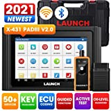 LAUNCH X431 PADIII (Upgrade of X431 V+ PRO 4.0) 2021 Newest Bi-Directional Scan Tool, 50+ Reset OE-Level Full System Diagnostic Scanner,ECU Online Coding,Guided Functions,Key Programming, Free Update
