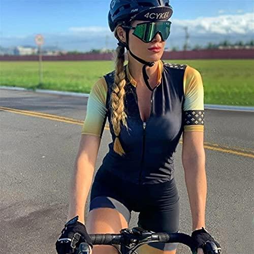 Set Di Maglie Da Ciclismo Da Donna Da Triathlon,Tuta Intera A Maniche Corte (Color : 2, Size : Large)