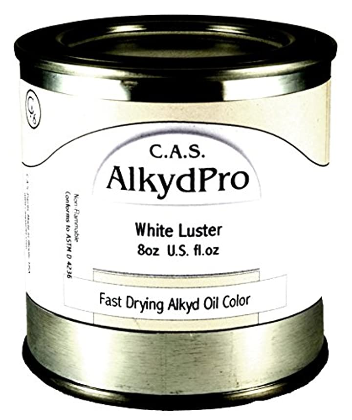 C.A.S. Paints AlkydPro Fast-Drying Oil Color Paint Can, 8-Ounce, Luster White