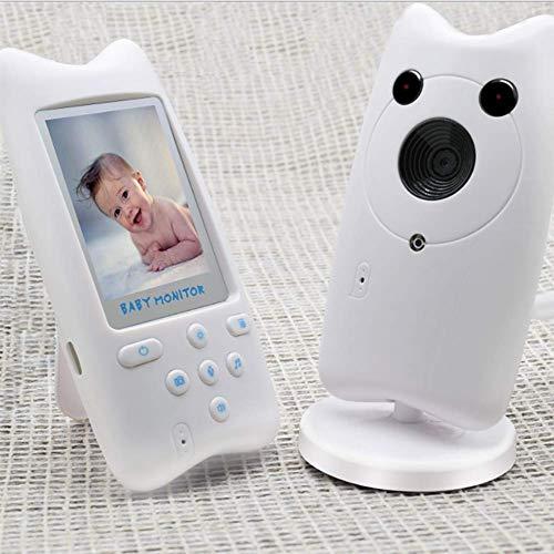 OOFAY Bebé Monitor con Pantalla LCD de 2.4 Pulgadas y Batería Recargable, Conexión Inalámbrica de 2.4 GHz, Visión Nocturna, Monitoreo de Temperatura