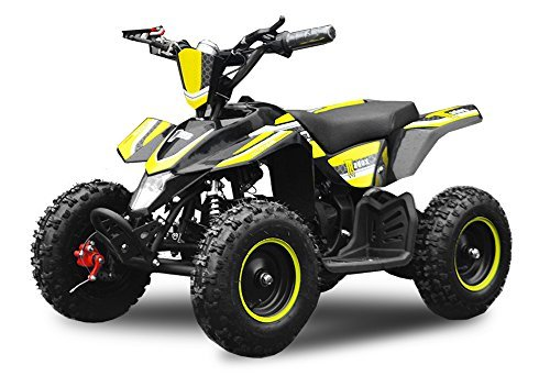 """Nitro Motors Eco Quad 800W Madox De Lujo 6"""" 36V Quad para Niños ATV Pocket Bike Mini - Amarillo"""
