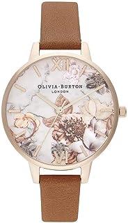 Olivia Burton Womens Quartz Watch, Analog Display and Leather Strap - OB16CS30