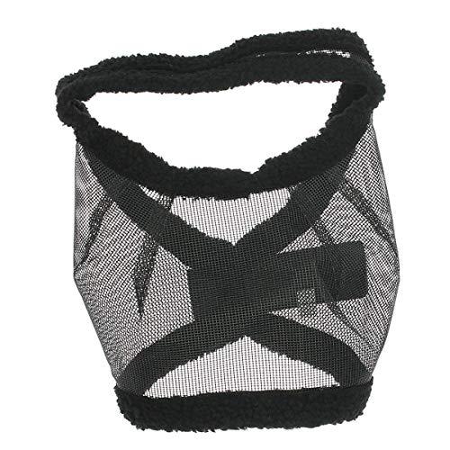 QHP Fliegenschutzmaske ohne Ohren Fliegenschutz Kopf schwarz Gr. Fohlen