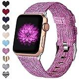 Ouwegaga Kompatibel mit Apple Watch Armband 38mm 40mm 42mm 44mm, Ersatzgewebe Band Stoff Armband...