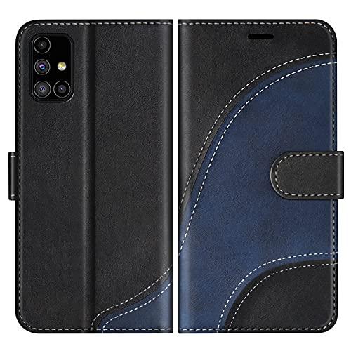 BoxTii Hülle für Galaxy M51, Leder Handyhülle für Samsung Galaxy M51, Ledertasche Klapphülle Schutzhülle mit Kartenfächer & Magnetverschluss, Schwarz