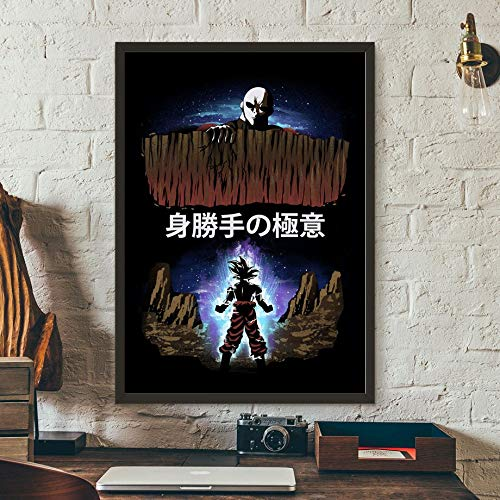 BasketballDragon Ball Super Son Goku Vegeta Majin Buu Broly Jiren Anime Poster e Impreso Arte de la Pared Pintura de la Lona Imagen de la Pared Decoración del hogar 80X105CM
