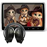 10.1 Inch HD Digital Multimedia  Monitor Super-thin Car Headrest Dvd Player With Ir headphone and HDMI Port and Remote Control USB And SD