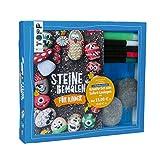 Kreativ-Set Steine bemalen für Kinder (Buch + Material): Buch mit Anleitungen und Material für 4 bemalte Steine. Mit Nachtleuchtfarbe
