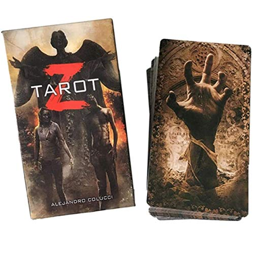 78 Tarjetas Tarot Z Deck Future Fate Indicator Family Party Board Juego Oracle Playing Card, no fácil de arrugar
