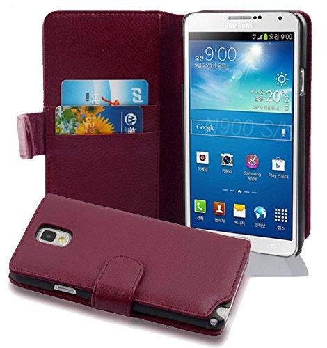 Cadorabo Coque pour Samsung Galaxy Note 3 en ORCHIDÉE Violets - Housse Protection en Similicuir Structuré avec Stand Horizontal et Fente Carte - Portefeuille Etui Poche Folio Case Cover