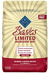 STARTS WITH REAL SALMON: A recipe that starts with real salmon as the first ingredient, this adult dry dog food features a single animal protein source along with potatoes, peas and pumpkin to support gentle digestion, making it a good option for dog...