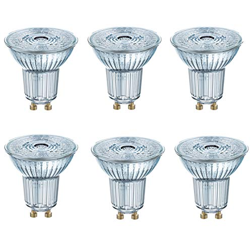OSRAM LED STAR PAR16 GU10 Glas Strahler 2,6W=35W 230lm cool white 4000K 6er Pack