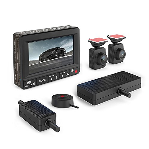 Esky Dual Dash Cam 1920x1080P Front and Rear Car Dashboard Camera with G-Sensor, Built-in WDR Wide...