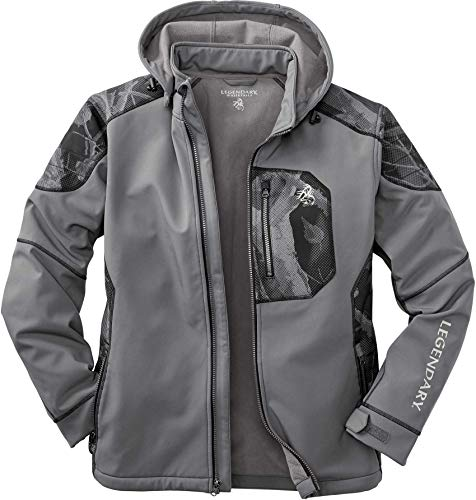 Legendary Whitetails Men's Outrider Soft Shell Jacket, Tornado, Medium