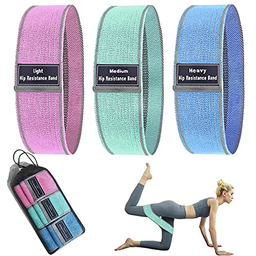 JARWEEN Elastici Fitness (Set di 3), elastico fitness Bande di Resistenza Fitness con 3 Livelli di Resistenza, Fasce Elastiche Fitness per Crossfit, per Esercizi Glutei, Yoga, Pilates, Palestra.