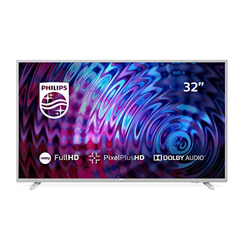 Philips 32PFS5823, Televisor con Tecnología LED, Full HD, Pixel Plus HD, Dolby Audio, Smart TV y HDMI, USB, 32