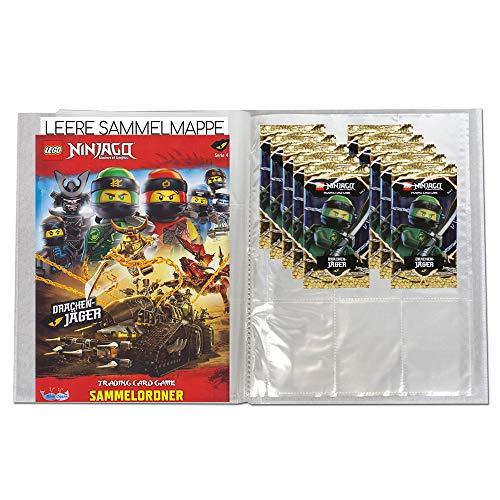 Blue Ocean Lego Ninjago - Serie 4 Trading Cards - 1 Leere Sammelmappe + 10 Booster - Deutsch