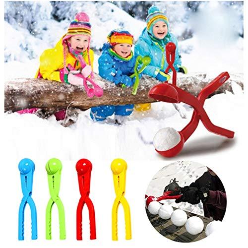 June# 1 Stück Schneeball Clip mit Griff,Schneeball Maker für Kinder und Erwachsene,Schneeball Maker Schnee Spielzeug,Winter Outdoor Spielzeug Schneeball Clip,Schneeball Werkzeug (Blau)