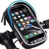 WESTLIGHT Wasserdicht Fahrradlenkertasche Handyhalterung Handyhalter Fahrrad Tasche Fahrradtasche Rahmentaschen für Handy GPS Navi