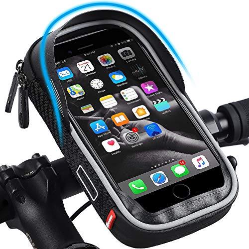 WESTLIGHT Wasserdicht Fahrradlenkertasche Handyhalterung Handyhalter Fahrrad Tasche Fahrradtasche Rahmentaschen für Handy GPS Navi und andere Edge bis zu 7 Zoll Geräte