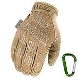 Mechanix WEAR ORIGINAL Einsatz-Handschuhe, atmungsaktiv & abriebfest + Gear-Karabiner, Original...
