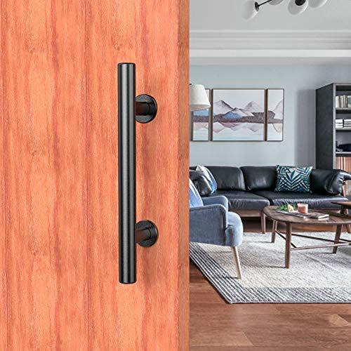 24cm manija de la para puertas corredera, Juegos de manilla, manija negra del tirón de para puertas de madera