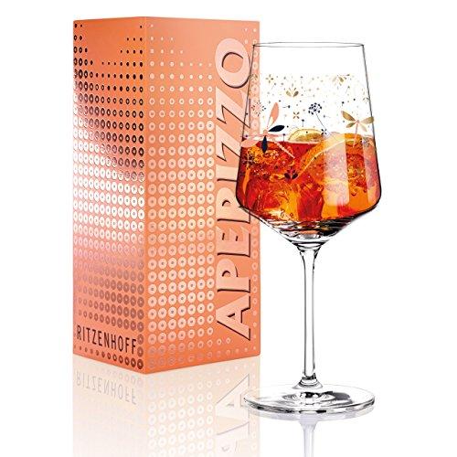 RITZENHOFF Aperizzo Aperitifglas von Liana Cavallaro , aus Kristallglas, 600 ml, mit edlen Goldanteilen