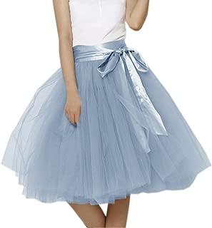Womens Short Tutu Tulle Skirt with Sash PC06