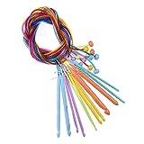 1 juego de ganchos de crochet de bucle, ganchos de crochet de cuentas largas, herramientas de crochet de lana
