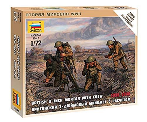 Zvezda–z6168–Modellbau–Panzer Sturmgewehr–Mörser Britische + Servants