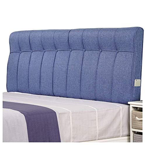 Tapizado Cabeceros De Cama Cojines Almohadilla de cintura con respaldo de cuñas Estuche blando Paño casero Almohada de esponja Estilo simple lavable, 5 colores ( Color : #1 , Size : 120x60cm )