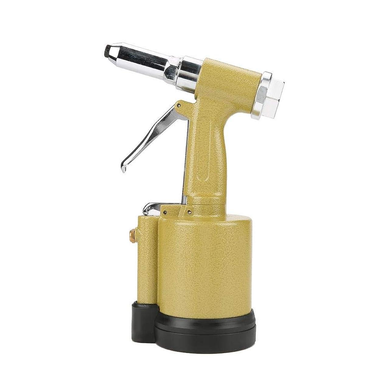 猫背巨大ブランド名Yosoo 空気圧リベッター 工業ヘビーデューティ 油圧空気圧リベットガン 工業用グレード多機能 ポンド引っ張り力 リベットツールキットセット アクセサリー付き(黄色)