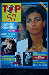 TOP 50 138 OCTOBRE 1988 GIANNA NANNINI LAURENT MALTESE CHICO BUARQUE + POSTERS GLENN MEDEIROS RAFT