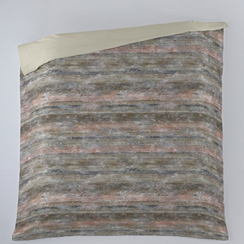 ESTELA - Funda nórdica Estampada ANETO (1 Pieza) - Cama de 180/200 cm. - Parte Estampada 100% Algodón - Parte Lisa 50% Algodón / 50% Poliéster - 144 Hilos