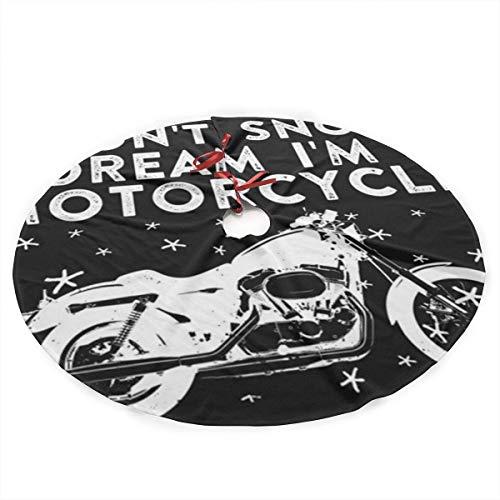 NAQUIASKI Ich träume, ich Bin EIN Motorrad Weihnachtsbaum Rock Weihnachtsbaum Bodendekoration Weihnachtsdekorationen Baumschmuck 90CM