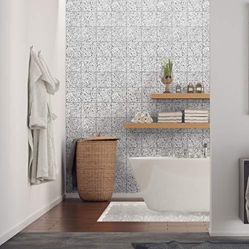 Tegelstickers terrazzo | zelfklevende tegels cementtegels – mozaïek wandtegels voor badkamer en keuken | cementtegels zelfklevend | Azulejos 10 x 10 cm – 60 stuks