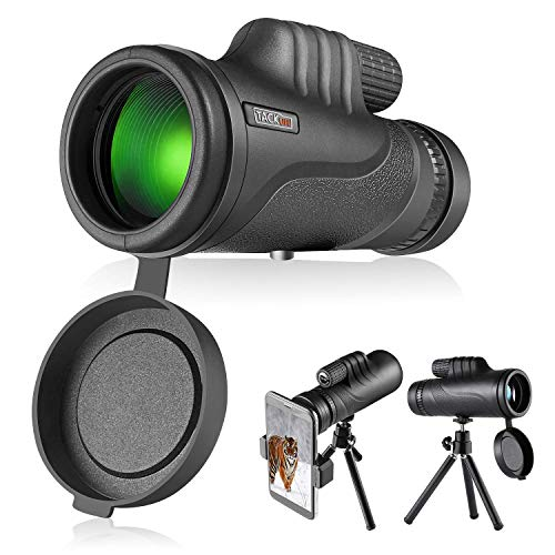 Monocular telescope 10X42, BAK4 Prism with Tripod and Smartphone Adapter, Non-slip Portable Waterproof Telescope Gift 1000Y, BirdWatching Hunting Camping Travelling Wildlife Scenery-Tacklife MCL01