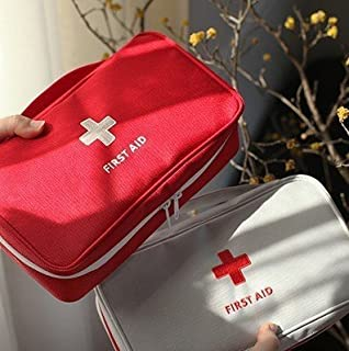 Adebie - First-aid Kit Creative Travel Bag Small Portable Drug Nylon First aid Medicine Bag Case Capsules Emergency Medicine Organizer Red []