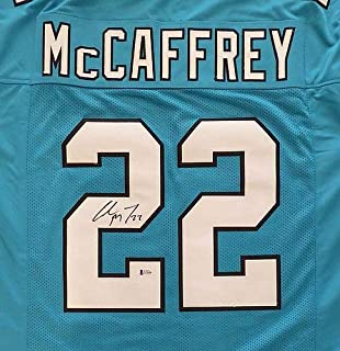 Carolina Panthers Christian Mccaffrey Autographed Memorabilia Blue Jersey - Beckett Authentic