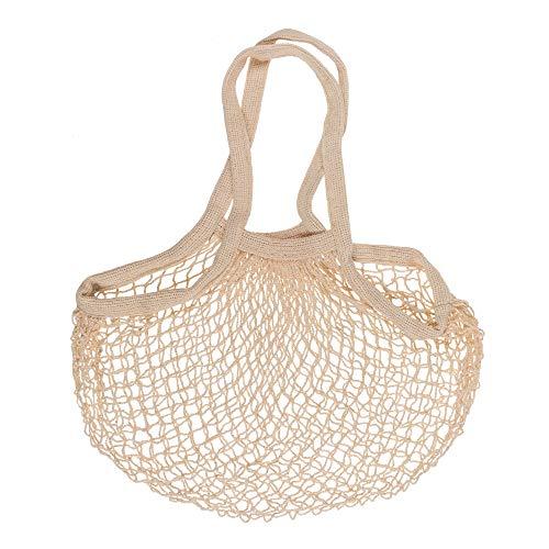hibuy Einkaufsnetz/Einkaufsbeutel Diana - 100% Baumwolle - 40 x 60 cm - beige
