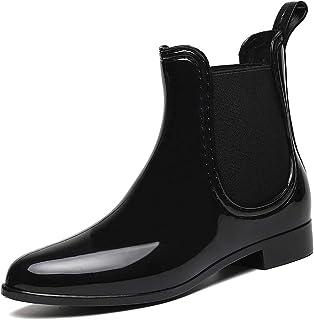 CCZZ Bottes de Pluie pour Femme Homme Bottines Bottes en Caoutchouc Imperméables Jardin Bottines Ankle Wellington Boots Ch...