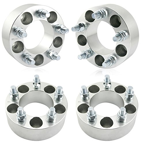 Orion Motor Tech 4pc Wheel Spacers/Adapters | 5 Lug 5x4.5 / 5x114.3-2' Thickness - 1/2' x20 Studs for Dodge Nitro Ford Mustang Jeep Wrangler Lincoln Mazda Mercury