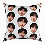 Kpop Boy Stan Sunoo Head Enhypen Korean Cute Square Form Decorative Indoor Cotton Throw Pillow