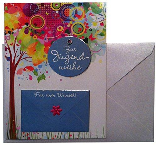 Depesche Glückwunschkarte Jugendweihe Karte Geldgeschenk Grußkarte bunter Baum