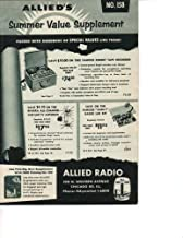 Allied Radio Summer Value Supplement Catalog 1956 (100 N. Western Avenue Chicago 80 Ill., No. 158)