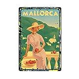 MUATOO Metall-Blechschild Retro Wanddekoration Mallorca
