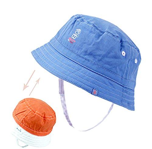 Xiaoyu 2 en 1 sombreros unisex de doble cara del sol del bebé, bebé y muchachos de los muchachos del niño