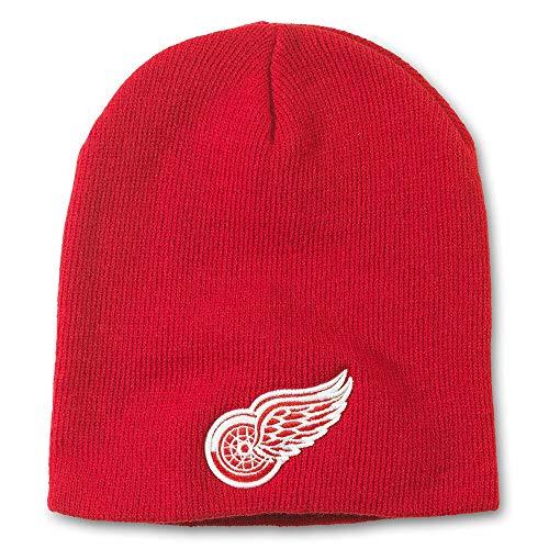 AMERICAN NEEDLE NHL Team Logo Basic Cuffless Beanie Knit Hat (Hartford Whalers-Navy)